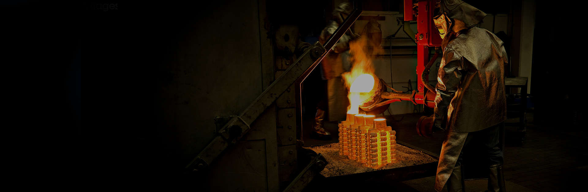 Richter Formteile - Image showing the process of investment casting